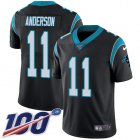 Cheap Nike Panthers #11 Robby Anderson Black Team Color Youth Stitched NFL 100th Season Vapor Untouchable Limited Jersey
