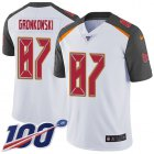 Cheap Nike Buccaneers #87 Rob Gronkowski White Men's Stitched NFL 100th Season Vapor Untouchable Limited Jersey