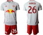 Cheap Red Bull #26 Parker White Home Soccer Club Jersey