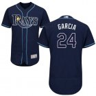 Cheap Rays #24 Avisail Garcia Dark Blue Flexbase Authentic Collection Stitched MLB Jersey