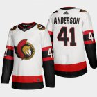 Cheap Ottawa Senators #41 Craig Anderson Men's Adidas 2020-21 Authentic Player Away Stitched NHL Jersey White
