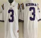 Cheap LSU Tigers #3 Odell Beckham Jr. White 2015 College Football Nike Limited Jersey
