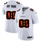 Cheap Cincinnati Bengals Custom White Men's Nike Team Logo Dual Overlap Limited NFL Jersey