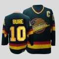 Cheap Canucks #10 Pavel Bure CCM Throwback Stitched Black NHL Jersey