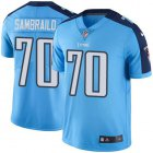 Cheap Nike Titans #70 Ty Sambrailo Light Blue Youth Stitched NFL Limited Rush Jersey
