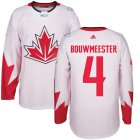 Cheap Team Canada #4 Jay Bouwmeester White 2016 World Cup Stitched Youth NHL Jersey