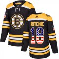 Cheap Adidas Bruins #18 Brett Ritchie Black Home Authentic USA Flag Stitched NHL Jersey