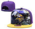 Cheap Vikings Team Logo Purple Yellow Adjustable Leather Hat TX