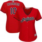 Cheap Indians #10 Edwin Encarnacion Red Women's Stitched MLB Jersey