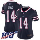 Cheap Nike Bills #14 Stefon Diggs Navy Women's Stitched NFL Limited Inverted Legend 100th Season Jersey