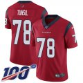 Cheap Nike Texans #78 Laremy Tunsil Red Alternate Men's Stitched NFL 100th Season Vapor Untouchable Limited Jersey