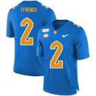 Cheap Pittsburgh Panthers 2 Maurice Ffrench Blue 150th Anniversary Patch Nike College Football Jersey
