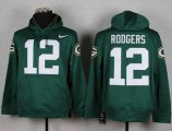 Cheap Green Bay Packers #12 Aaron Rodgers Green Pullover NFL Hoodie