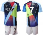 Cheap Manchester City #7 Sterling Nike Cooperation 6th Anniversary Celebration Soccer Club Jersey