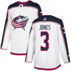 Cheap Adidas Blue Jackets #3 Seth Jones White Road Authentic Stitched Youth NHL Jersey