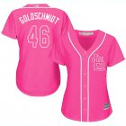 Cheap Cardinals #46 Paul Goldschmidt Pink Fashion Women's Stitched MLB Jersey