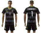 Cheap Wales #1 Hennessey Black Away Soccer Club Jersey