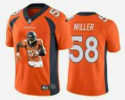 Cheap Men's Denver Broncos #58 Von Miller Orange Player Portrait Edition 2020 Vapor Untouchable Stitched NFL Nike Limited Jersey