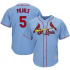 Cheap Cardinals #5 Albert Pujols Light Blue Cool Base Stitched Youth MLB Jersey