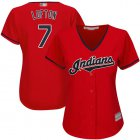 Cheap Indians #7 Kenny Lofton Red Women's Stitched MLB Jersey