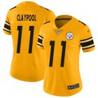 Cheap Nike Steelers #11 Chase Claypool Gold Women's Stitched NFL Limited Inverted Legend Jersey