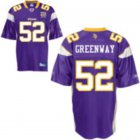 Cheap Vikings #52 Chad Greenway Purple Team 50TH Patch Stitched NFL Jersey