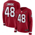 Cheap Nike Cardinals #48 Isaiah Simmons Red Team Color Women's Stitched NFL Limited Therma Long Sleeve Jersey
