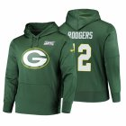 Cheap Green Bay Packers #12 Aaron Rodgers Nike NFL 100 Primary Logo Circuit Name & Number Pullover Hoodie Green