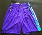 Cheap Men's Charlotte Hornets Purple Swingman Short