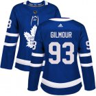 Cheap Adidas Maple Leafs #93 Doug Gilmour Blue Home Authentic Women's Stitched NHL Jersey