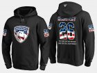 Cheap Panthers #26 David Nemirovsky NHL Banner Wave Usa Flag Black Hoodie