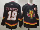 Cheap Men's Calgary Flames #19 Matthew Tkachuk Black 2021 Retro Stitched NHL Jersey