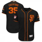 Cheap Giants #35 Brandon Crawford Black 2019 Spring Training Flex Base Stitched MLB Jersey