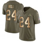 Cheap Nike Bengals #24 Vonn Bell Olive/Gold Youth Stitched NFL Limited 2017 Salute To Service Jersey