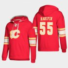 Cheap Calgary Flames #55 Noah Hanifin Red adidas Lace-Up Pullover Hoodie