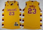 Cheap Youth Cleveland Cavaliers #23 LeBron James Yellow Throwback 2016 The NBA Finals Patch Jersey