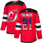 Cheap Adidas Devils #21 Kyle Palmieri Red Home Authentic USA Flag Stitched Youth NHL Jersey