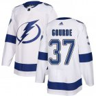 Cheap Adidas Lightning #37 Yanni Gourde White Road Authentic Stitched NHL Jersey