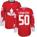 Cheap Team CA. #50 Corey Crawford Red 2016 World Cup Stitched NHL Jersey