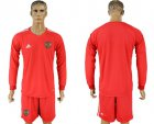 Cheap Russia Blank Red Long Sleeves Goalkeeper Soccer Country Jersey