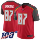 Cheap Nike Buccaneers #87 Rob Gronkowski Red Team Color Men's Stitched NFL 100th Season Vapor Untouchable Limited Jersey