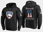 Cheap Panthers #11 Jonathan Huberdeau NHL Banner Wave Usa Flag Black Hoodie