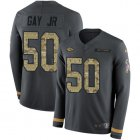 Cheap Nike Chiefs #50 Willie Gay Jr. Anthracite Salute to Service Youth Stitched NFL Limited Therma Long Sleeve Jersey