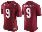 Cheap Men's Alabama Crimson Tide #9 Bo Scarbrough Red 2017 Championship Game Patch Stitched CFP Nike Limited Jersey