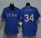 Cheap Rangers #34 Nolan Ryan Blue Cool Base Stitched Youth MLB Jersey