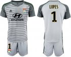 Cheap Lyon #1 Lopes Grey Goalkeeper Soccer Club Jersey