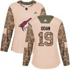 Cheap Adidas Coyotes #19 Shane Doan Camo Authentic 2017 Veterans Day Women's Stitched NHL Jersey
