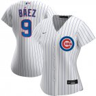 Cheap Chicago Cubs #9 Javier Baez Nike Women's Home 2020 MLB Player Jersey White
