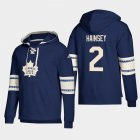 Cheap Toronto Maple Leafs #2 Ron Hainsey Blue adidas Lace-Up Pullover Hoodie