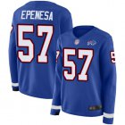 Cheap Nike Bills #57 A.J. Epenesas Royal Blue Team Color Women's Stitched NFL Limited Therma Long Sleeve Jersey
